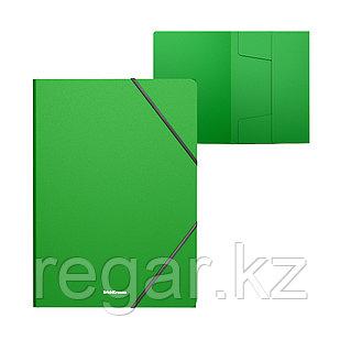 Папка на резинках пластиковая  ErichKrause® Classic, A4, зеленый (в пакете по 4 шт.)