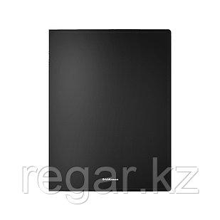 Папка-скоросшиватель пластик. ErichKrause® Classic, с пружинным мех., A4, черн. (в пакете по 4 шт.)