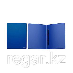 Папка-скоросшиватель пластик. ErichKrause® Classic, с пружинным мех., A4, син. (в дисплее по 12 шт.)