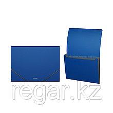 Папка-картотека пластиковая  ErichKrause® Classic, с 6 отделениями, A4, синий (в дисплее по 6 шт.)