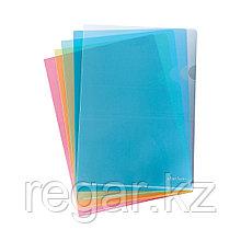 Папка-уголок пластиковая  ErichKrause®  Clear Standard, A4, синий (в пакете по 10 шт.)