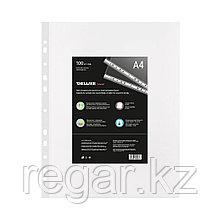 Файл-вкладыш пластик. Deluxe Clear A440M, A4, 40 мкм. (пакет 100 файлов)