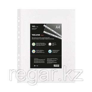 Файл-вкладыш пластик. Deluxe Clear A480M, A4, 80 мкм. (пакет 100 файлов)