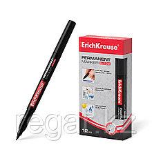 Перманентный маркер ErichKrause®  P-100, цвет чернил черный (упак./12 шт.)