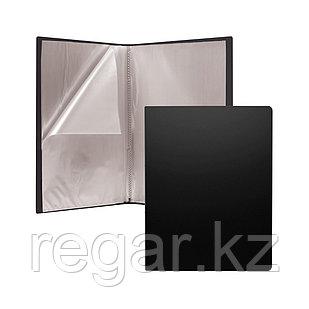 Папка файловая пластиковая ErichKrause® Classic, c 10 карманами, A4, черный (в пакете по 4 шт.)