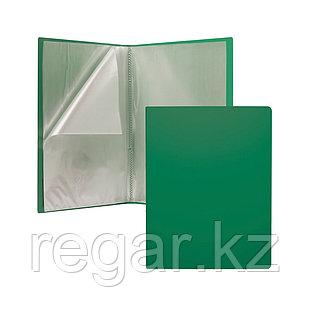 Папка файловая пластиковая ErichKrause® Classic, c 10 карманами, A4, зеленый (в пакете по 4 шт.)