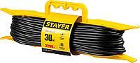 Удлинитель электрический, 30 м, 2200 Вт, 1 гнездо, ПВС 2х0,75 мм2, STAYER