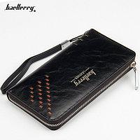Мужской портмоне-клатч Baellerry Leather W009, ЦВЕТ-ЧЕРНЫЙ