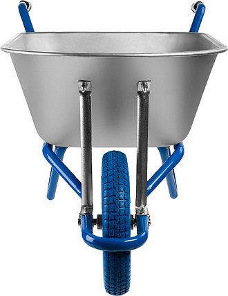 Тачка садово-строительная ЗУБР одноколесная, 180 кг, фото 2
