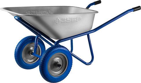 Тачка садово-строительная ЗУБР одноколесная, 240 кг, фото 2