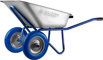 Тачка садово-строительная ЗУБР одноколесная, 240 кг, фото 3
