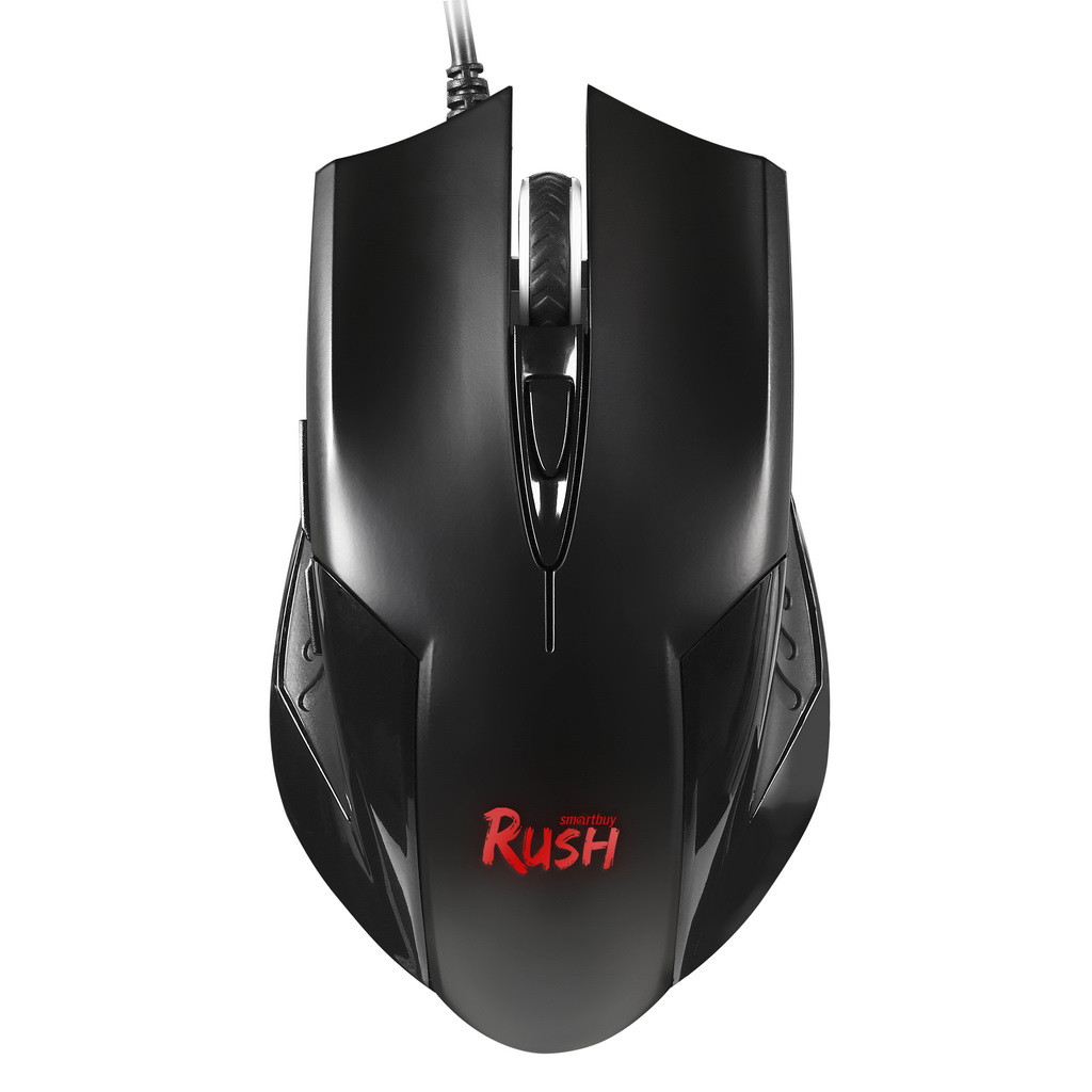 Мышь игровая проводная Smartbuy RUSH черная + коврик SBM-726G