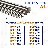 Круг оцинкованный 10,0 мм ГОСТ 9.307-89
