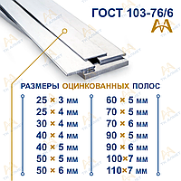 Полоса оцинкованная 200х20 ГОСТ 9.307-8