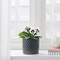 ФЕЙКА Искусственное растение в горшке, д/дома/улицы Фиалка, белый, 9 см