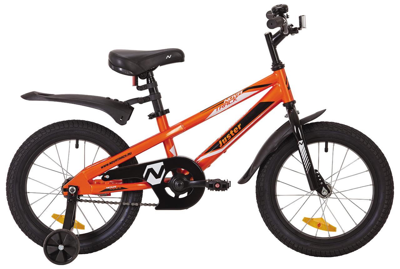 """Детский велосипед Novatrack Juster 16"""", оранжевый"""