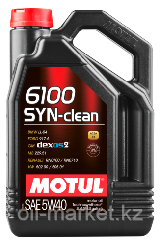 Моторное масло MOTUL 6100 SYN-CLEAN 5W40 4л