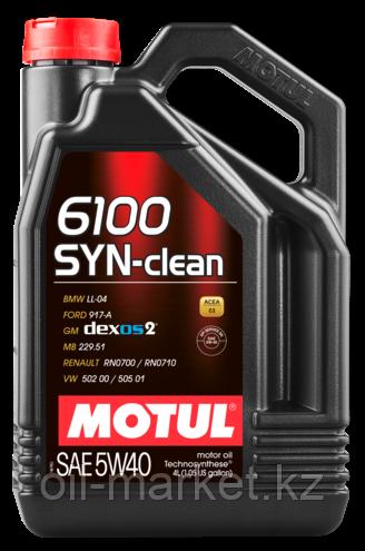 Моторное масло MOTUL 6100 SYN-CLEAN 5W40 5л
