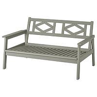 2-местный диван ,БОНДХОЛЬМЕН ,садовый, серый морилка, 139x81x73 см ИКЕА, IKEA, фото 1
