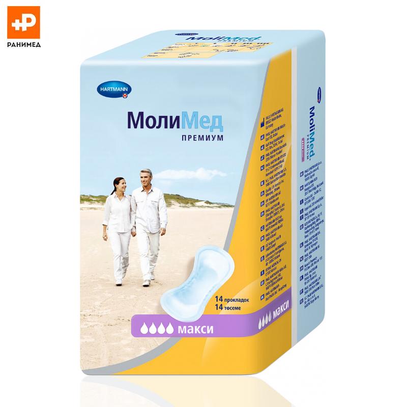 MoliMed Premium maxi - урологические прокладки для женщин, 14 шт.