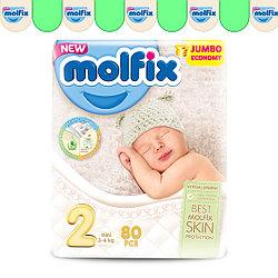 Подгузники детские Molfix №2 (3-6кг), 80 шт