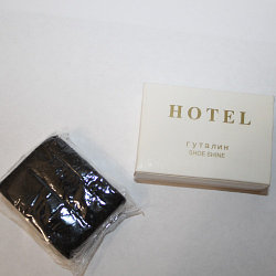Губка для обуви в коробке Hotel 5х3,5 см.