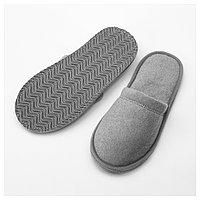 ТОШЁН Домашние тапочки, серый S/M, фото 1