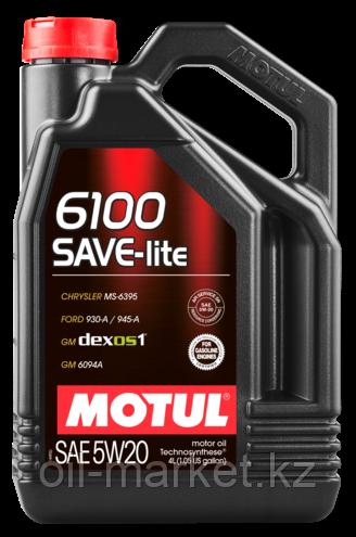 Моторное масло MOTUL 6100 SAVE-LITE 5W20 5л