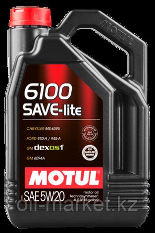 Моторное масло MOTUL 6100 SAVE-LITE 5W20 5л, фото 2