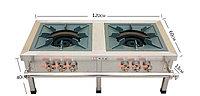Плита 2-конфорки большая (газовая) 120х60х45см 3 регулятора