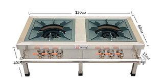 Газовая плита  2-конфорки, 3 регулятора огня