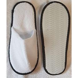 Тапочки одноразовые (28 см) FL RZ 400 ZK белые с черной каймой