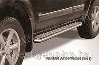 Защита порогов d57 с листом Nissan Pathfinder 2010-13