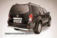 Защита заднего бампера d76 Nissan Pathfinder 2010-13