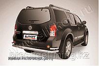 Защита заднего бампера d76+d42 двойная Nissan Pathfinder 2010-13