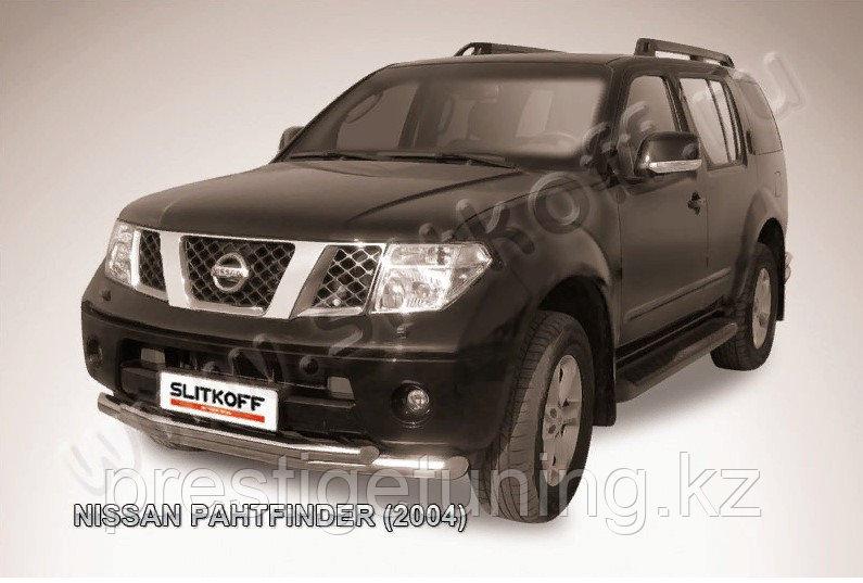 Защита переднего бампера d76+d57 двойная Nissan Pathfinder R51 2005-10