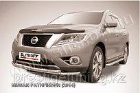 Защита переднего бампера d57+d57 двойная Nissan Pathfinder 2014-