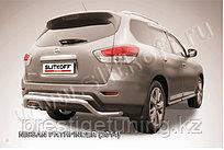 """Защита заднего бампера d57 """"Волна"""" Nissan Pathfinder 2014-"""