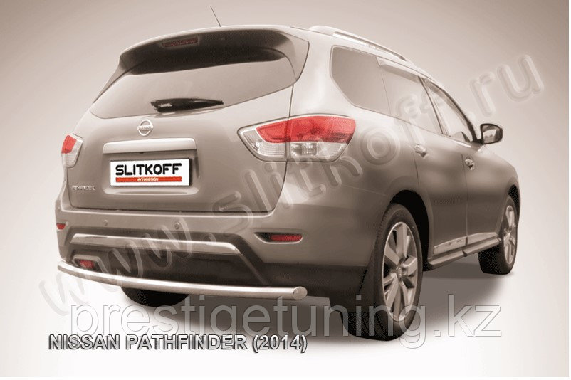 Защита заднего бампера d57 Nissan Pathfinder 2014-