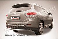 Защита заднего бампера d76 Nissan Pathfinder 2014-