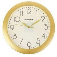 Часы настенные круглые 'Золотая классика', накладные цифры, белый циферблат