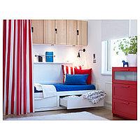 БРИМНЭС Каркас кровати-кушетки с 2 ящиками, белый, 80x200 см