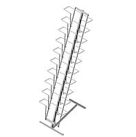 Стойка напольная с наклонной полосой для прайс-листов на 10 карманов формат А4 арт. СБС2-10Г