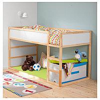 КЮРА Двусторонняя кровать, белый, сосна, 90x200 см, фото 1