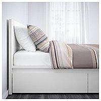 МАЛЬМ Каркас кровати+2 кроватных ящика, белый, Леирсунд, 90x200 см, фото 1