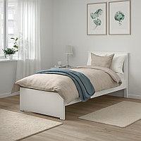 СОНГЕСАНД Каркас кровати, белый, Лонсет, 90x200 см, фото 1