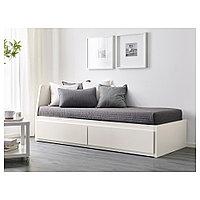 ФЛЕККЕ Каркас кровати-кушетки с 2 ящиками, белый, 80x200 см, фото 1