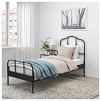 САГСТУА Каркас кровати, черный, Лонсет, 90x200 см, фото 1