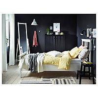 ХЕМНЭС Каркас кровати, белая морилка, Лонсет, 90x200 см, фото 1