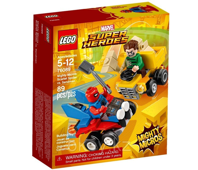 LEGO Super Heroes: Mighty Micros: Спайдер-Мэн против Песочного человека 76089